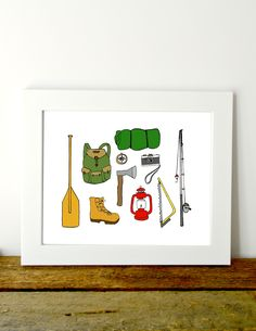 Camping and outdoors art for little boys room or nursery. Perfect for anyone who loves camping, adventure, and the outdoors Outdoor Art, Printable Art, Free Printables, Baby Decor, Nursery Wall Art, As You Like, Baby Boy Shower, Card Stock, Diy Projects