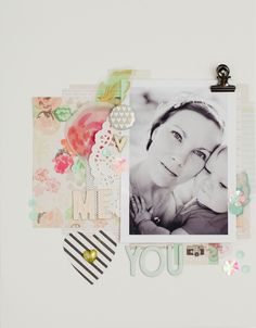 #papercrafting #scrapbook #layout: you and me by 3littleks at @studio_calico