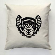 Bat, Hurricane Lantern, Decorative pillow cover, pillowcase, gift, cushion case, decorative throw pillow, sofa ecru pillow by PSIAKREW on Etsy