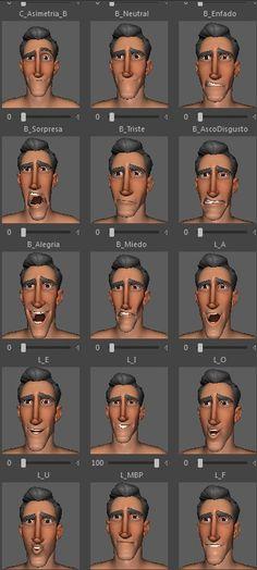 Carl Animum Facial Expressions 2