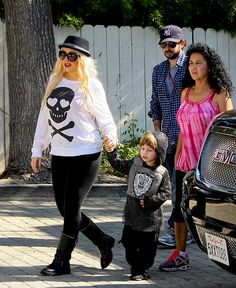 See How Christina Aguilera's Son Max Has Grown!: October 2011