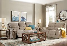 picture of Kinley Beige 5 Pc Living Room from Living Room Sets Furniture