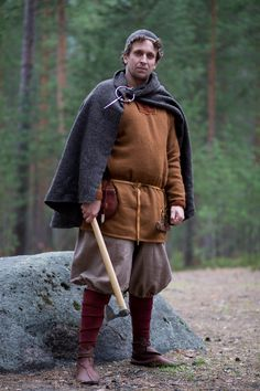 """Norsman (his name is Trogher) Viking dress has been made by """"Skupaya Khel'"""". Vikind dress, viking style. By https://www.facebook.com/norsviking"""