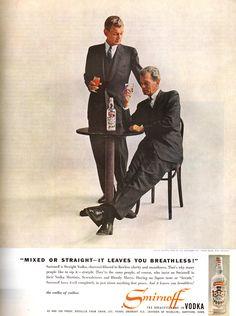 Joseph Cotten for Smirnoff Vodka Vintage Advertisements, Vintage Ads, Virginia, Joseph Cotten, Vodka, Ad Art, Smirnoff, Print Magazine, Worcester
