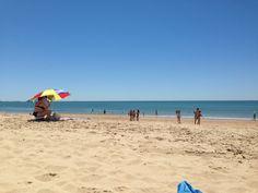 Playa de Santa Catalina en Puerto de Santa María, Andalucía
