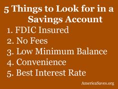 What to Look For in a Savings Account