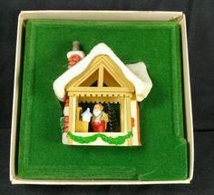 1982 Hallmark Keepsake Santa & Kringle House Christmas Ornament Santa's workshop