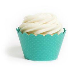 Dress My Cupcake Standard Aqua Cupcake Wrappers,Set of 12: Amazon.com: Kitchen & Dining