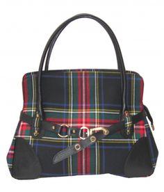 Stewart Black Rosie Handbag with leather trims