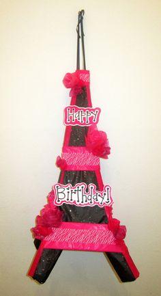 Custom Eiffel Tower pinata. 13 Birthday, Paris Birthday, Daughter Birthday, Birthday Ideas, Birthday Parties, I Party, Party Ideas, Parisian Party, Eiffel Towers