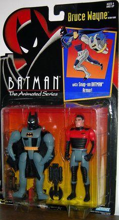 Batman The Animated Series Bruce Wayne with Snap-on Batman Armor