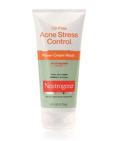 Oil-Free Acne Stress Control® Power-Cream Wash.     This is so gentle and works very well. I put jojoba oil 2-3 drops in it when I'm cleansing. Works like a charm. Does not overdry or irritate skin. Not very expensive either. :)