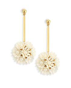 6a6f5bb0de5f76 Lele Sadoughi - Metallic Tahitian Nights Plumeria Faux Pearl Drop Earrings  - Lyst