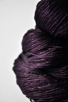 purple yarn with a hint of shimmer via Dye For Yarn on Etsy