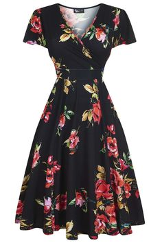 Lyra - Mid-Summer Evening Floral : Our most popular Lady Voluptuous Dress is back at Lady V in collection of beautiful Summer. Modest Dresses, Elegant Dresses, Pretty Dresses, Beautiful Dresses, Casual Dresses, Formal Dresses, Fashion Mode, Modest Fashion, Fashion Dresses