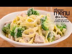 Cauli-Fredo Fettuccine with Chicken & Broccoli - Wegmans Seafood Recipes, Pasta Recipes, Soup Recipes, Salad Recipes, Chicken Recipes, Dinner Recipes, Healthy Recipes, Wegmans Recipe, Cauliflower Puree