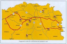 FOLLOW the route for the ANNUAL COVERED BRIDGE FESTIVAL held in October. This map is for Indiana...