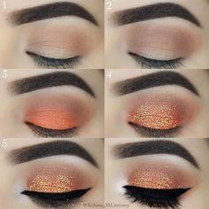 maquillage de fête paillettes #makeup #beauty