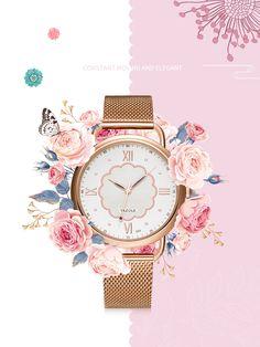 YAZOLE 399 Rose Gold Case Full Steel Women Quartz Watch Pendant Earrings, Quartz Watch, Body Jewelry, Bracelet Watch, Women Jewelry, Rose Gold, Steel, Watches, Casual