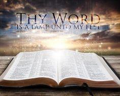 Uw Woord is een lamp voor mijn voet en een licht op mijn pad . ( Psalm 119:105 )