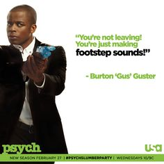 you're not leaving! you're just making footstep sounds! via psych_usa on twitter