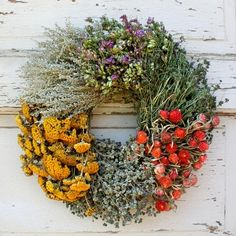 Floral Herb Wreath #williamssonoma