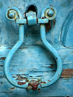 Blue Door Knocker by Deepwater Ljubinka