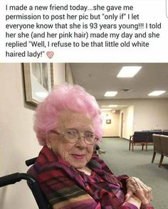 93 year old pink haired cutie