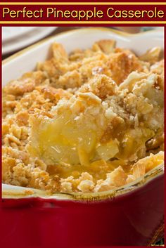 If you've never served a pineapple casserole at Easter before, it's time to start. This easy side dish may sound a little unusual, but it's a favorite!