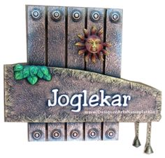 Designer arts nameplate collection on pinterest for Mural name plate designs