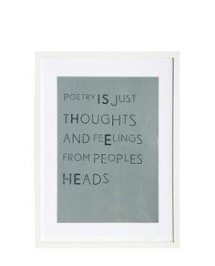 Print mit Rahmen Poetry von House Doctor