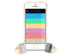 Ringly wearable tech jewelry - lets you know who's calling so you can keep your phone in your bag