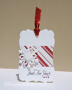 add pattern paper before cutting with die so it matches up - simple tag