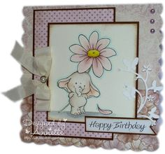 The Stamp Basket Birthday Greeting Cards, Birthday Greetings, Happy Birthday, Studio Cards, Copics, Kids Cards, Card Ideas, Studios, Daisy