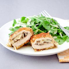 Breaded Pork Cutlets Stuffed with Mushrooms and Parmesan Recipe - RecipeChart.com