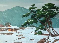 여름에는 김영일화백의 겨울그림 감상으로 피서를 대신합니다. Peter Sheeler, Painting & Drawing, Canvas Art, Environment, Watercolor, Landscape, Drawings, Illustration, Image