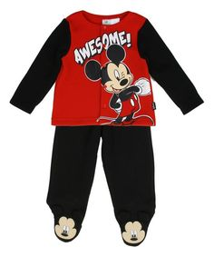 "Mickey Mouse ""Awesome' Top & Footie Pants - Infant"