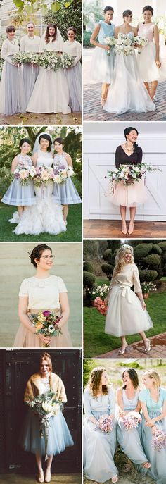 The Tulle Skirt  - The Hottest Look for Bridesmaids in 2015 - here's how to make this work for your ladies - check out the rest on  www.onefabday.com