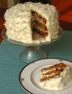 Ultimate Carrot Cake with Cream Cheese Frosting (Includes tutorial)  posted on Zoebakes.com  Love that this doesn't use raisins but cherries and coconut- different and sounds yummy.