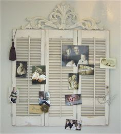 Shutters ~GOOD IDEA TO PUT A WOODEN ACCENT ON TOP OF SHUTTERS