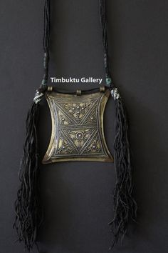 TRIBAL Tuareg or Touareg Tscherot amulet necklace from the Sahara desert.  Berber necklace.  Ethnic and handmade cosmic piece from Africa. by Timbuktugallery on Etsy