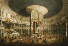 [Canaletto - Ranelagh Gardens, the Interior of the Rotunda]