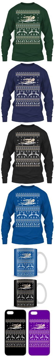 Swimming Ugly Christmas Sweater! Click The Image To Buy It Now or Tag Someone You Want To Buy This For. #swimming