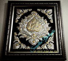 '' MAŞAALLAH '' ( 72X77 cm ) Alüminyum folyo kabartma, çok özel ve tektir. Her türlü sipariş alınır