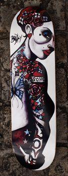 Limited Editions - Terry Bradley - Soho Love Skateboard (Signed) Soho, Skateboard, 1, Presents, Portrait, Artist, House, Ideas, Board Art