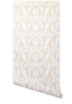 knots wallpaper in gold from terrence payne via hygge & west