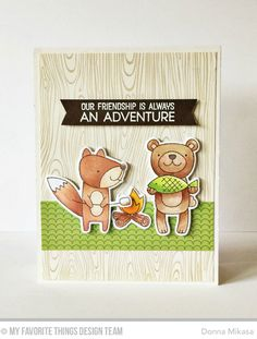 There's a whole lotta cuteness in My Favorite Things March Card Kit . Introducing Warm and Fuzzy Friends . For the next two days, th...
