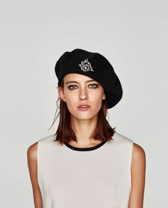 0261d3aafbd1d BERET WITH BROOCH-Hats