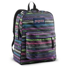 Jansport Superbreak T501 Backpack Multi Tribal Stripe -- Click image for more details. This is an Amazon Affiliate links.