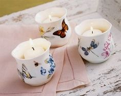 Butterfly Bathroom, Butterfly House, Butterfly Wings, Bowls, Lenox Butterfly Meadow, Lenox China, Candle Accessories, Butterfly Decorations, Family Traditions